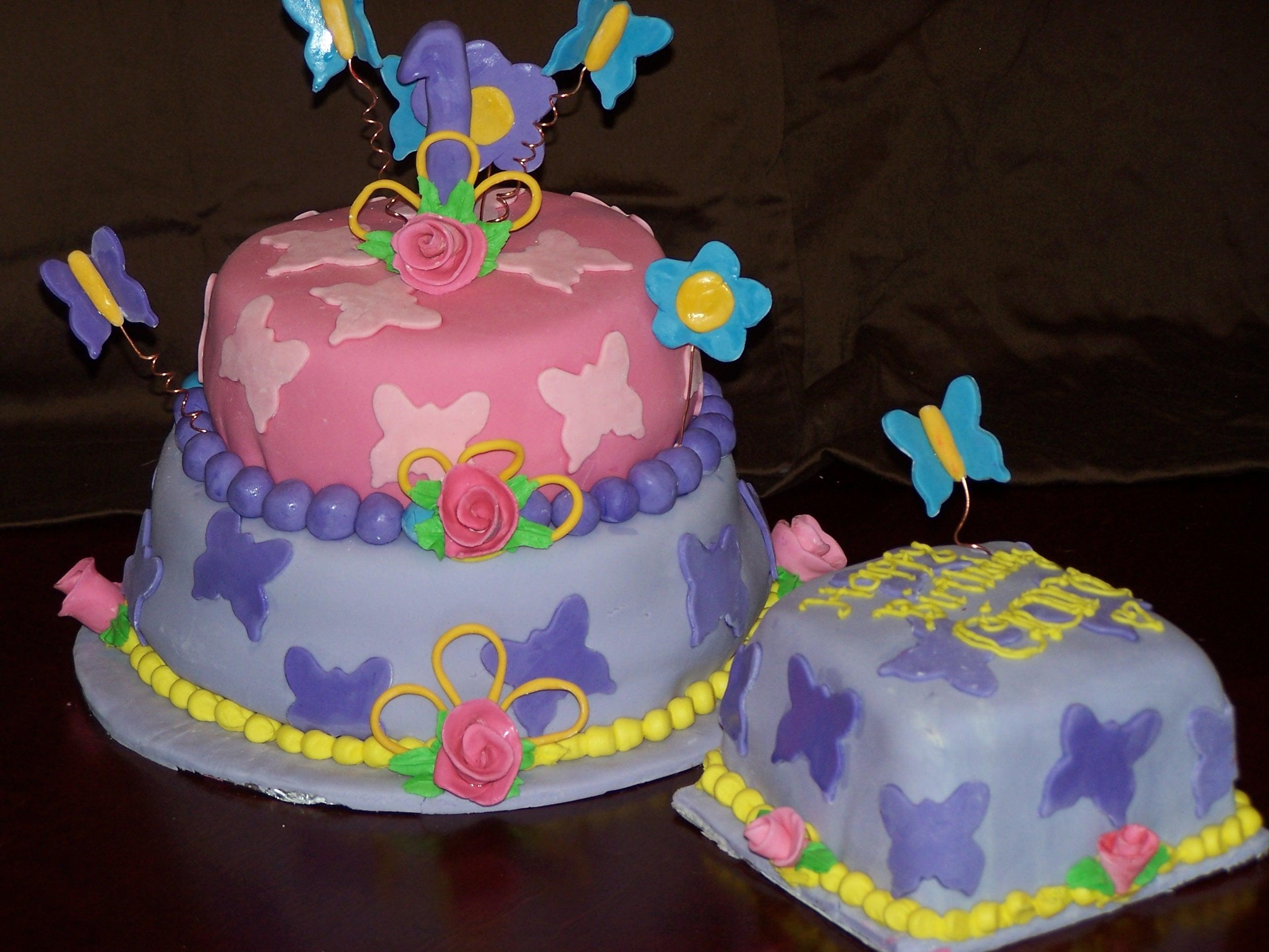 First Birthday Emmy J Cake Design