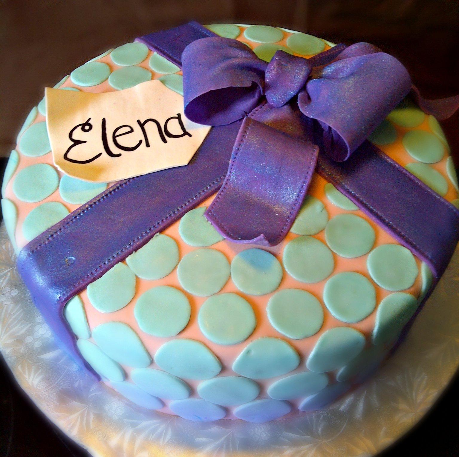 Polka Dot Birthday Cake Emmy J Cake Design