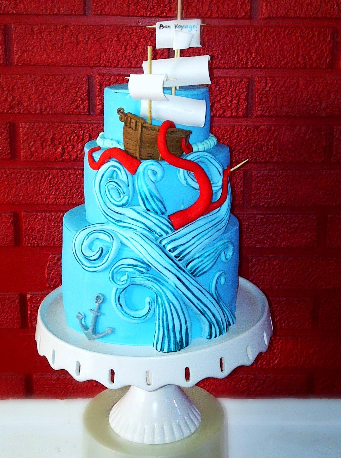 Bon Voyage Cake Design