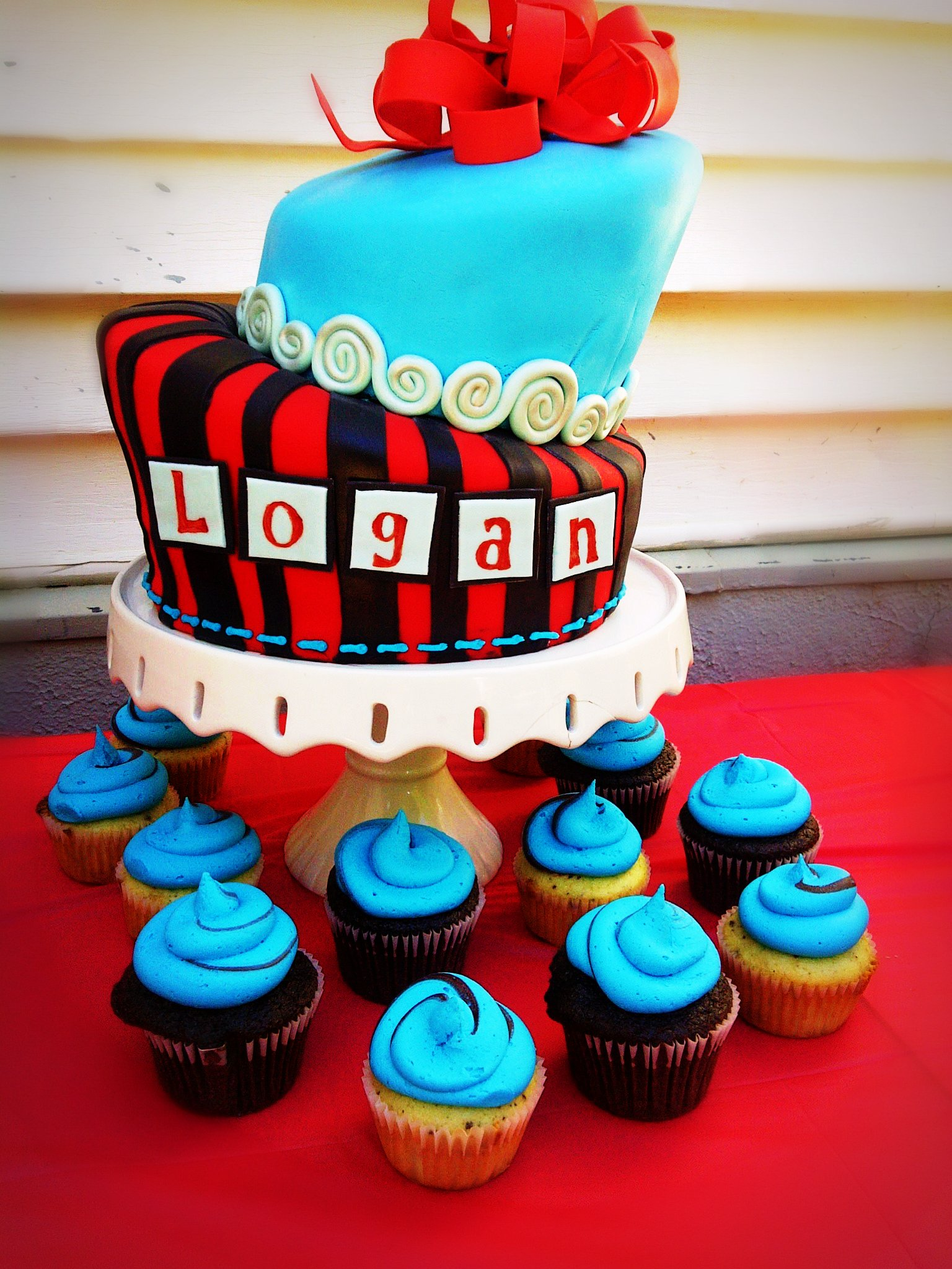 Logan 1st Bday Emmy J Cake Design